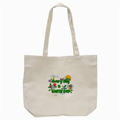 Earth Day Tote Bag (cream) by Valentinaart