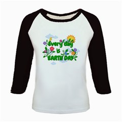 Earth Day Kids Baseball Jerseys by Valentinaart