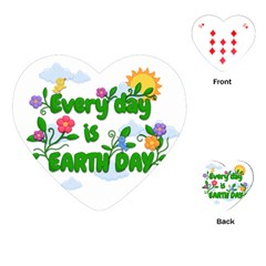 Earth Day Playing Cards (heart)  by Valentinaart