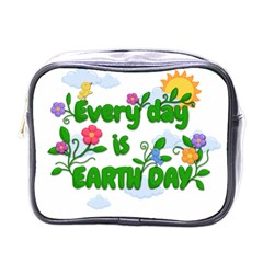 Earth Day Mini Toiletries Bags by Valentinaart