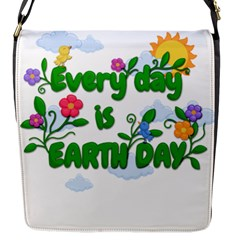 Earth Day Flap Messenger Bag (s) by Valentinaart