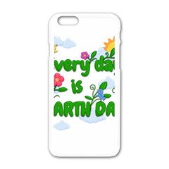 Earth Day Apple Iphone 6/6s White Enamel Case