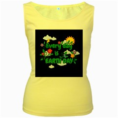 Earth Day Women s Yellow Tank Top by Valentinaart