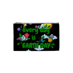 Earth Day Cosmetic Bag (small)  by Valentinaart
