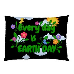 Earth Day Pillow Case by Valentinaart