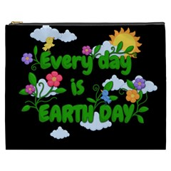 Earth Day Cosmetic Bag (xxxl)  by Valentinaart