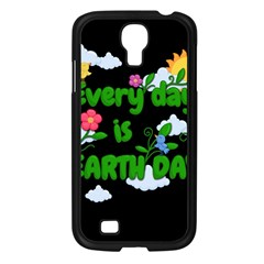 Earth Day Samsung Galaxy S4 I9500/ I9505 Case (black) by Valentinaart