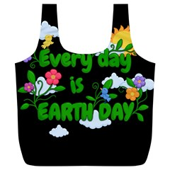 Earth Day Full Print Recycle Bags (l)  by Valentinaart