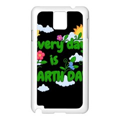 Earth Day Samsung Galaxy Note 3 N9005 Case (white) by Valentinaart