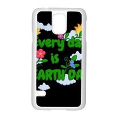 Earth Day Samsung Galaxy S5 Case (white)