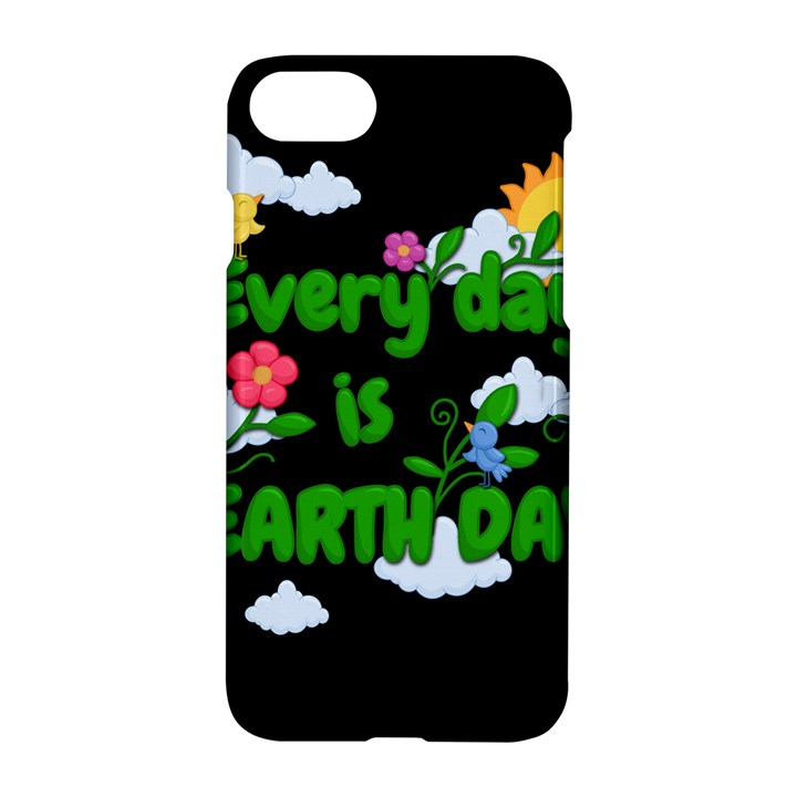 Earth day Apple iPhone 7 Hardshell Case