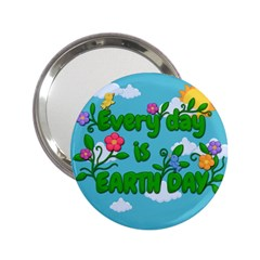 Earth Day 2 25  Handbag Mirrors by Valentinaart
