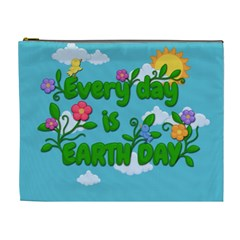 Earth Day Cosmetic Bag (xl) by Valentinaart