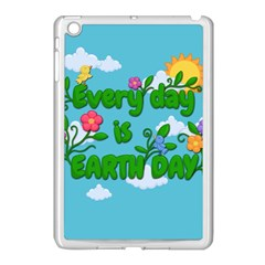 Earth Day Apple Ipad Mini Case (white) by Valentinaart
