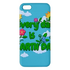 Earth Day Apple Iphone 5 Premium Hardshell Case by Valentinaart