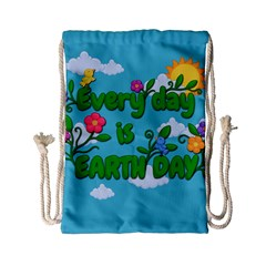 Earth Day Drawstring Bag (small) by Valentinaart