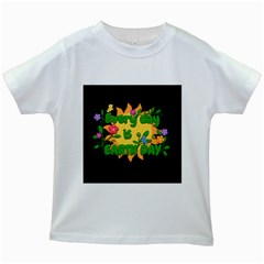 Earth Day Kids White T Shirts by Valentinaart