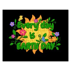 Earth Day Rectangular Jigsaw Puzzl by Valentinaart