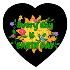 Earth Day Jigsaw Puzzle (heart) by Valentinaart