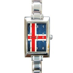 Iceland Flag Rectangle Italian Charm Watch by Valentinaart