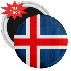 Iceland Flag 3  Magnets (10 Pack)  by Valentinaart