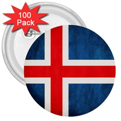 Iceland Flag 3  Buttons (100 Pack)  by Valentinaart