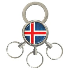 Iceland Flag 3 Ring Key Chains by Valentinaart