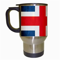 Iceland Flag Travel Mugs (white) by Valentinaart