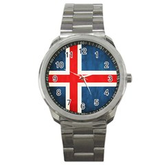 Iceland Flag Sport Metal Watch by Valentinaart