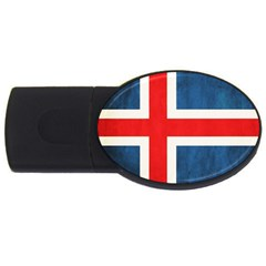 Iceland Flag Usb Flash Drive Oval (4 Gb) by Valentinaart