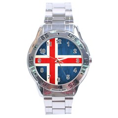 Iceland Flag Stainless Steel Analogue Watch by Valentinaart