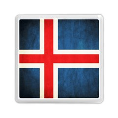 Iceland Flag Memory Card Reader (square)  by Valentinaart
