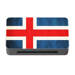 Iceland Flag Memory Card Reader With Cf by Valentinaart