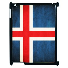 Iceland Flag Apple Ipad 2 Case (black) by Valentinaart