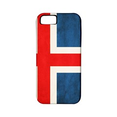 Iceland Flag Apple Iphone 5 Classic Hardshell Case (pc+silicone) by Valentinaart