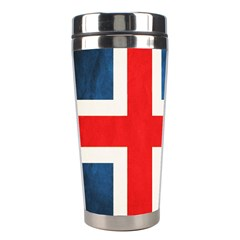 Iceland Flag Stainless Steel Travel Tumblers by Valentinaart