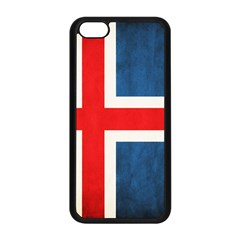 Iceland Flag Apple Iphone 5c Seamless Case (black) by Valentinaart