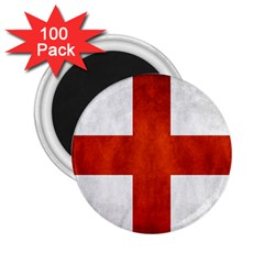 England Flag 2 25  Magnets (100 Pack)  by Valentinaart