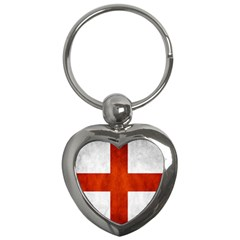 England Flag Key Chains (heart)  by Valentinaart
