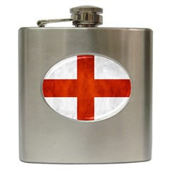 England Flag Hip Flask (6 Oz) by Valentinaart