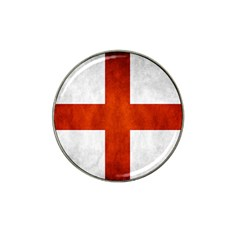 England Flag Hat Clip Ball Marker by Valentinaart