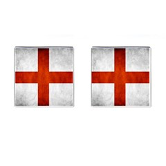 England Flag Cufflinks (square) by Valentinaart