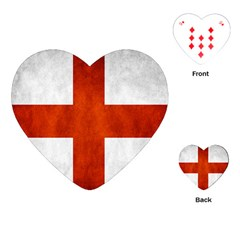 England Flag Playing Cards (heart)  by Valentinaart