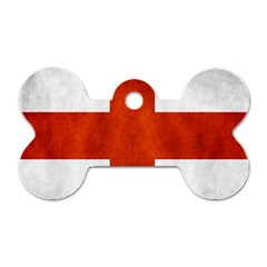 England Flag Dog Tag Bone (two Sides) by Valentinaart
