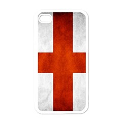 England Flag Apple Iphone 4 Case (white) by Valentinaart