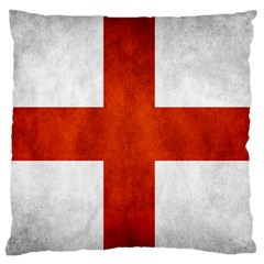 England Flag Large Cushion Case (two Sides) by Valentinaart