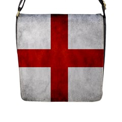 England Flag Flap Messenger Bag (l)  by Valentinaart