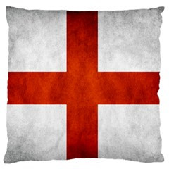 England Flag Large Flano Cushion Case (one Side) by Valentinaart
