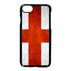 England Flag Apple Iphone 7 Seamless Case (black) by Valentinaart