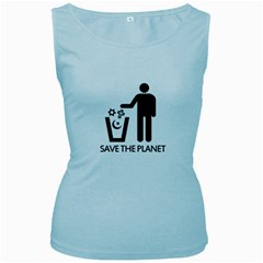 Save The Planet   Religions  Women s Baby Blue Tank Top